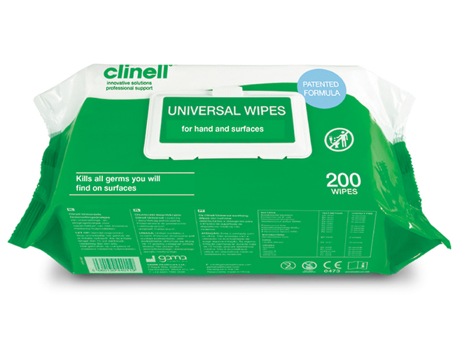 Clinell Cleaning & Disinfecting Wipes image 0