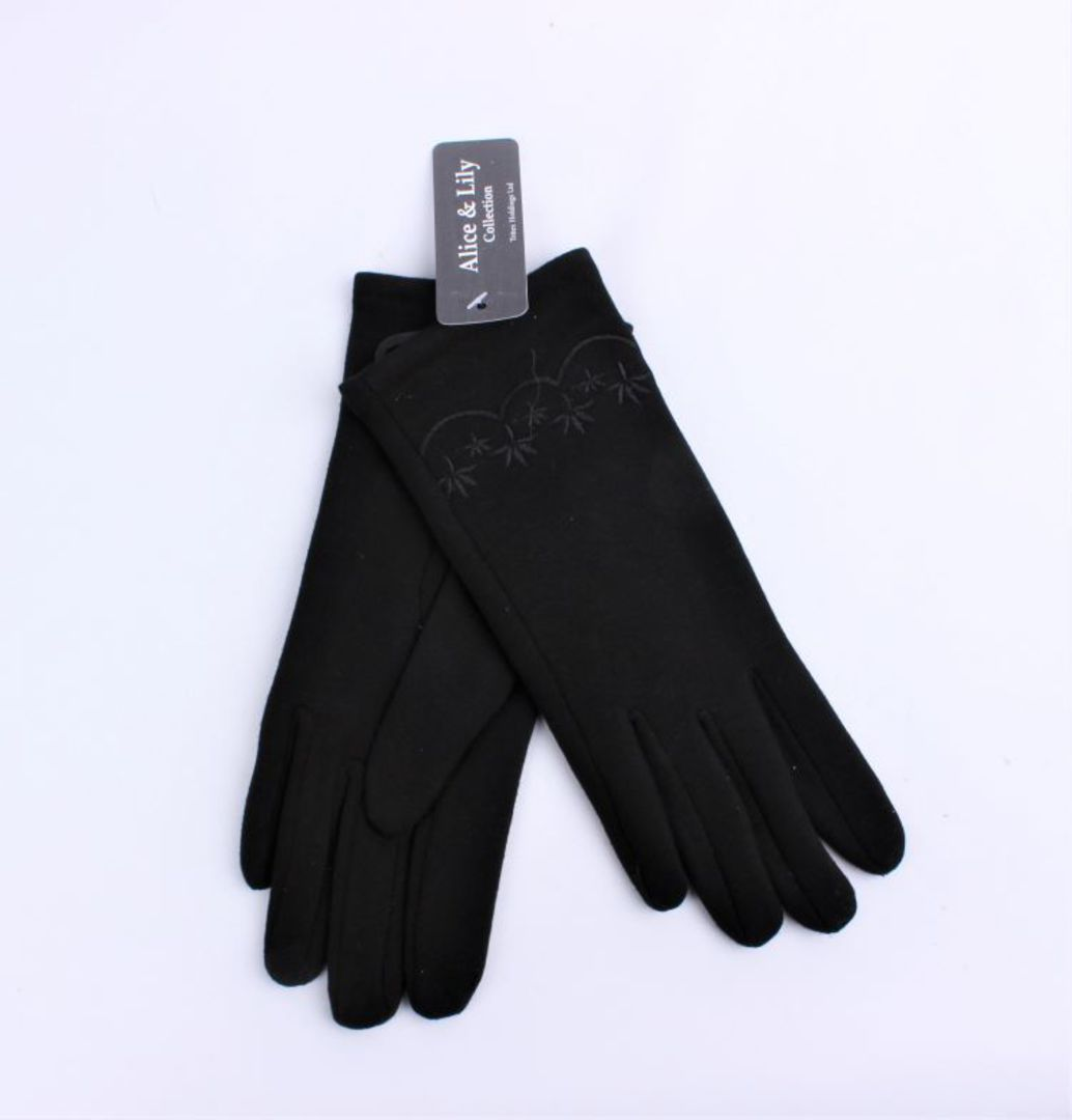 Winter ladies thermal lined glove w embroidery navy  Style; S/LK4620/NAV image 0