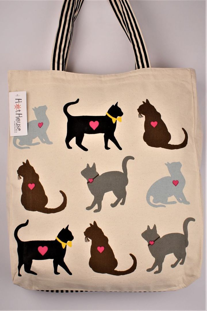 Luv cats tote bag. Code:TB-LUV/CAT image 0