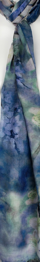 Alice & Lily printed  scarf blue Style:SC/4571/BLUE image 0