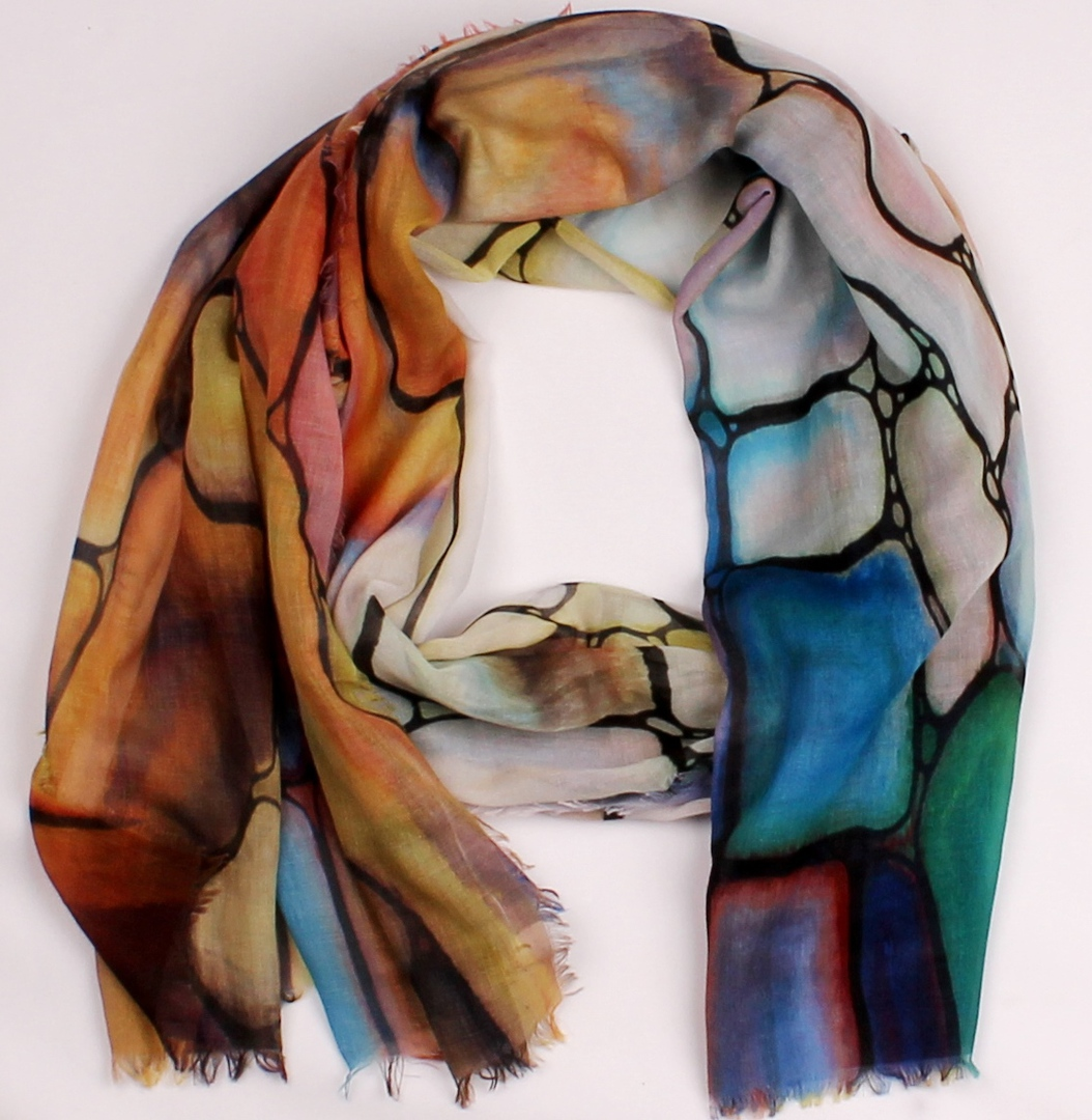Alice & Lily printed  scarf orange Style:SC/4572/ORA image 0
