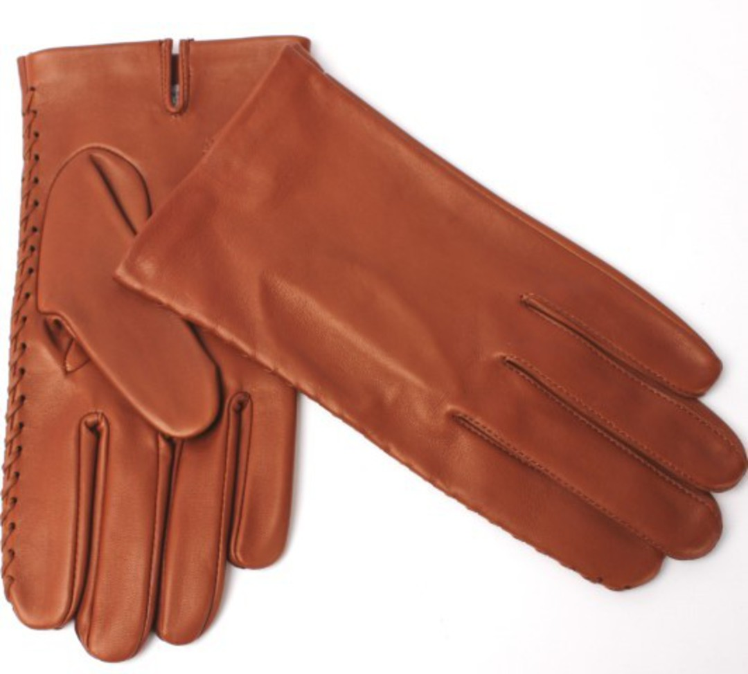 Mens Italian leather gloves unlined cognac Code: S/ML2847U image 0