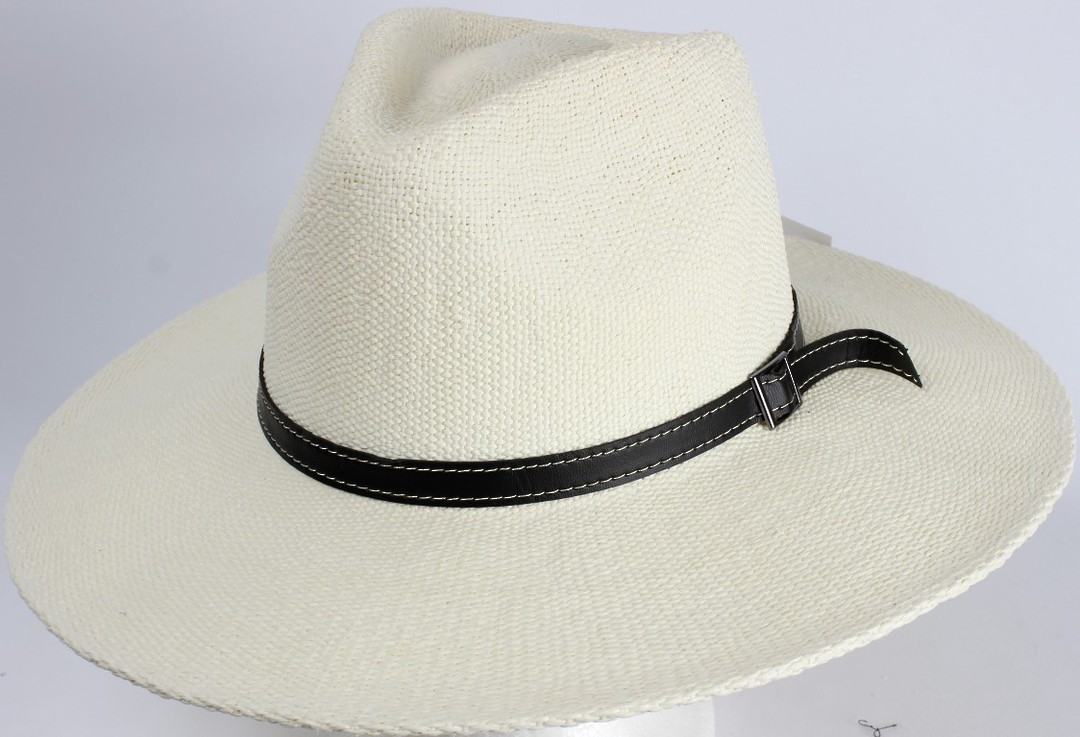 HEAD START White fedora w black band and buckle  Style: HS/1417/WHITE image 0