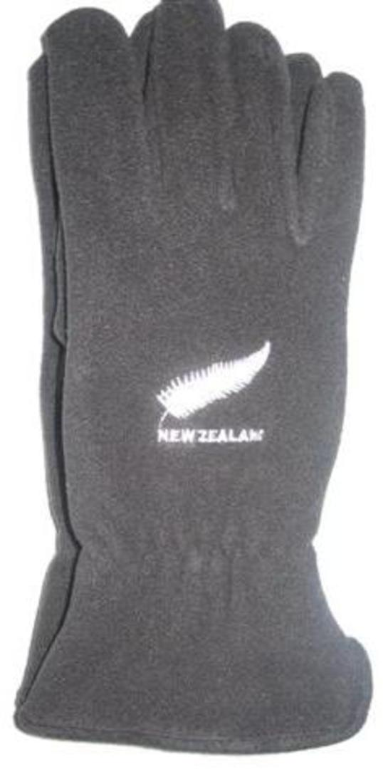 """Fern"" polar fleece gloves black. Code: S800/B image 0"