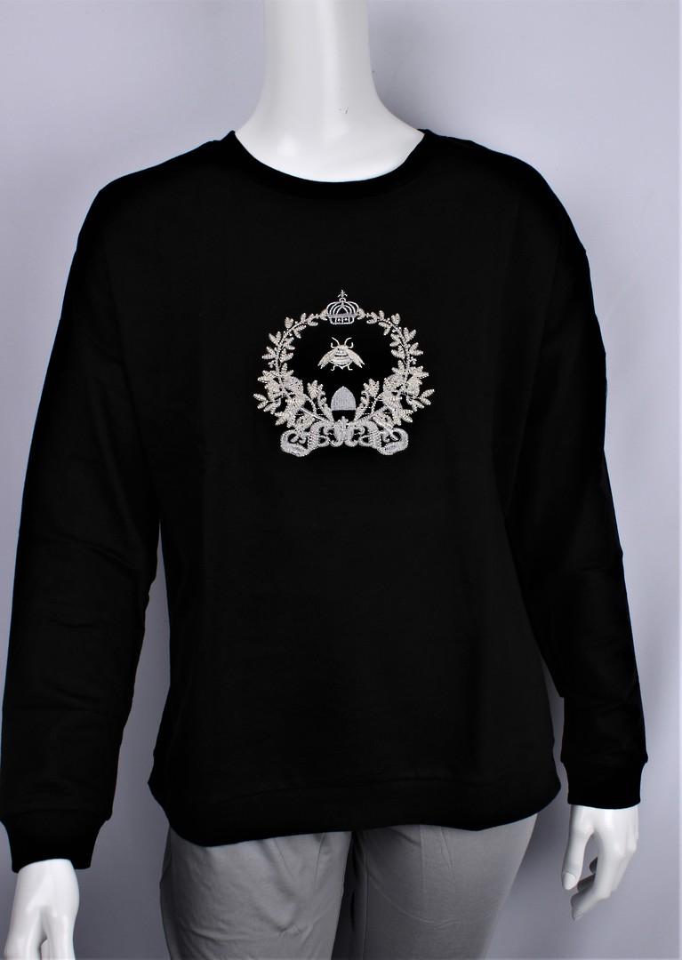 Alice & Lily sweatshirt w embroidered queen bee black STYLE : AL/QBEE/BLK image 0