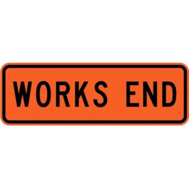 Works End Road Sign 950x300 HI image 0