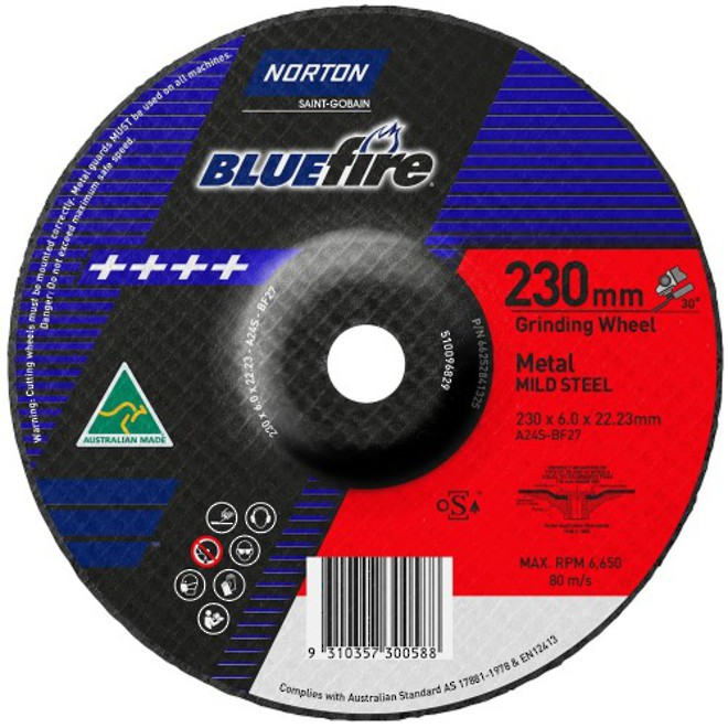230x6x22 Metal Grinding Disc image 0