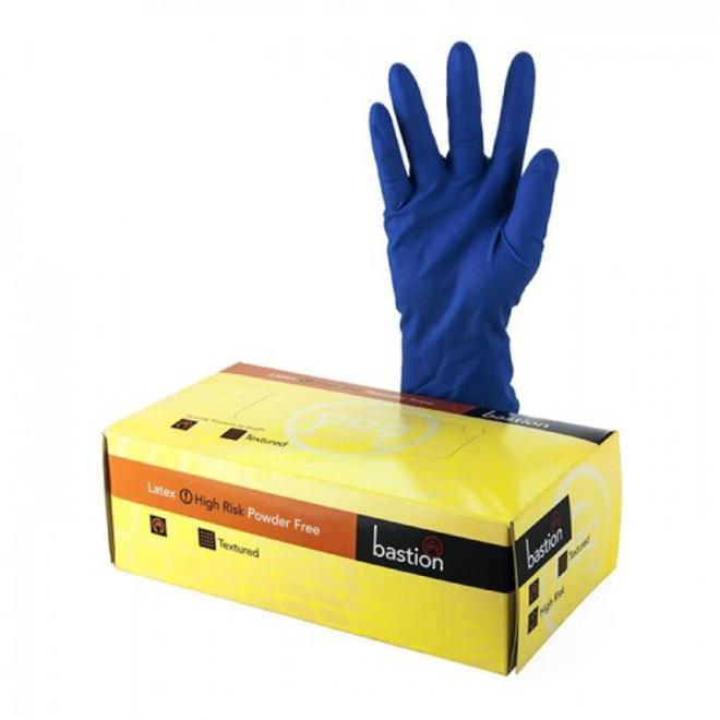 (pkt/50)Blue H/D Latex Gloves image 0