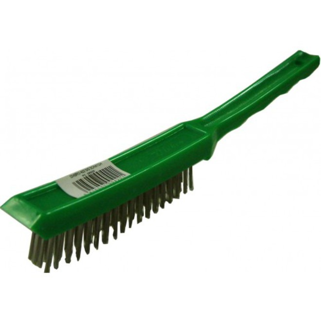 Wire Brush Stainless 4 Row image 0