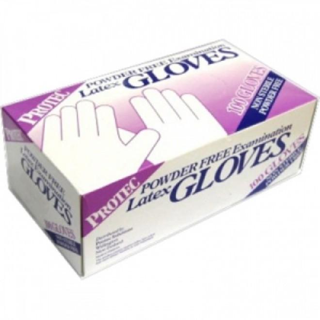 Protec Latex Gloves (100) Lge image 0