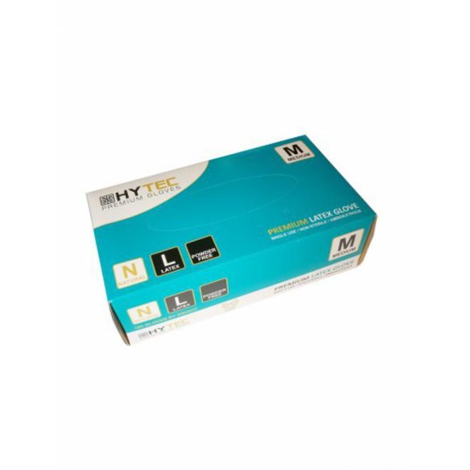 Hytec Natural Latex Powder Free Disposable Gloves (pkt/100) image 0