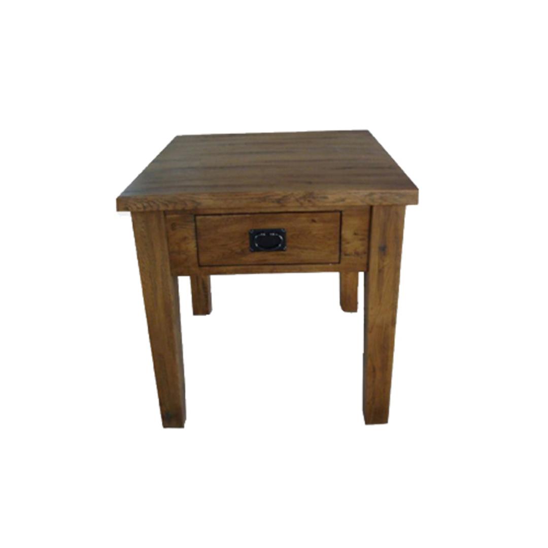 American Light Oak Lamp Table image 0