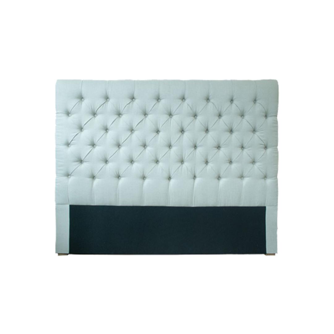 Cuba Queen Size Bed Head Cream Linen image 0