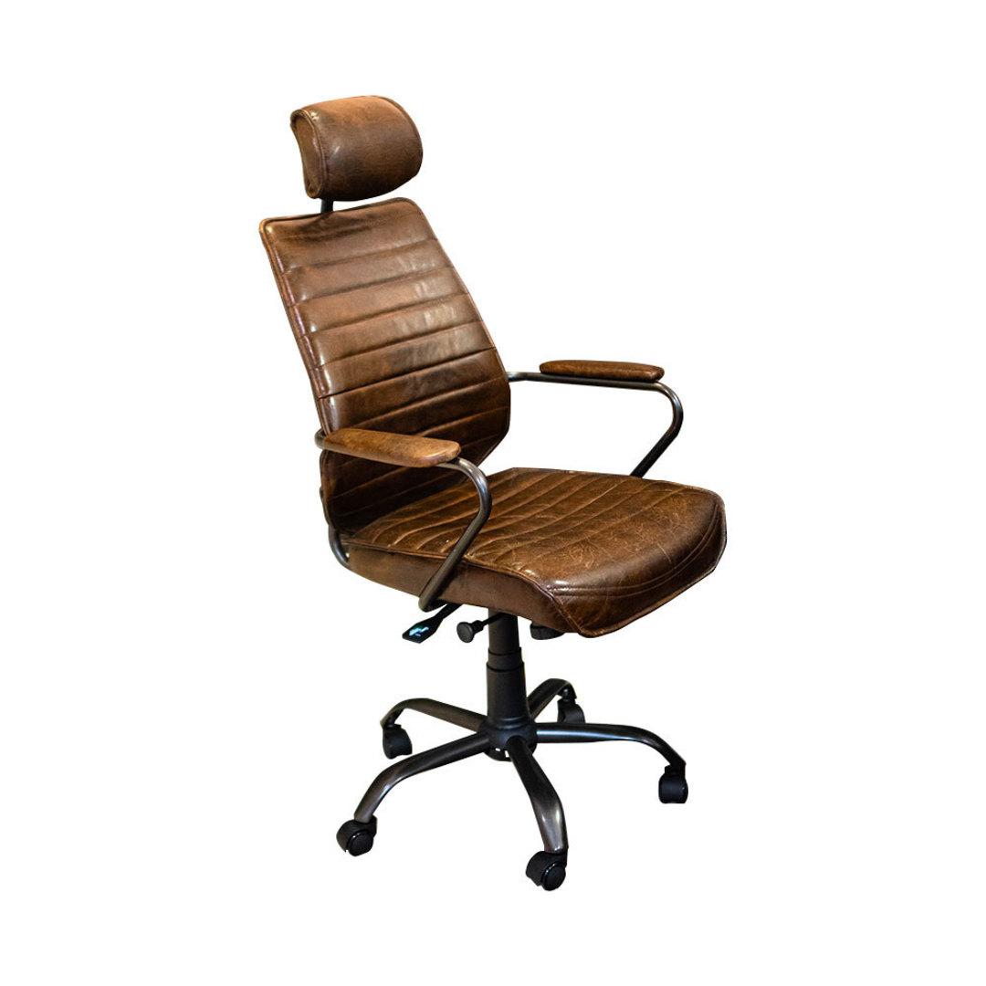 Birmingham Vintage Leather Study Chair image 0