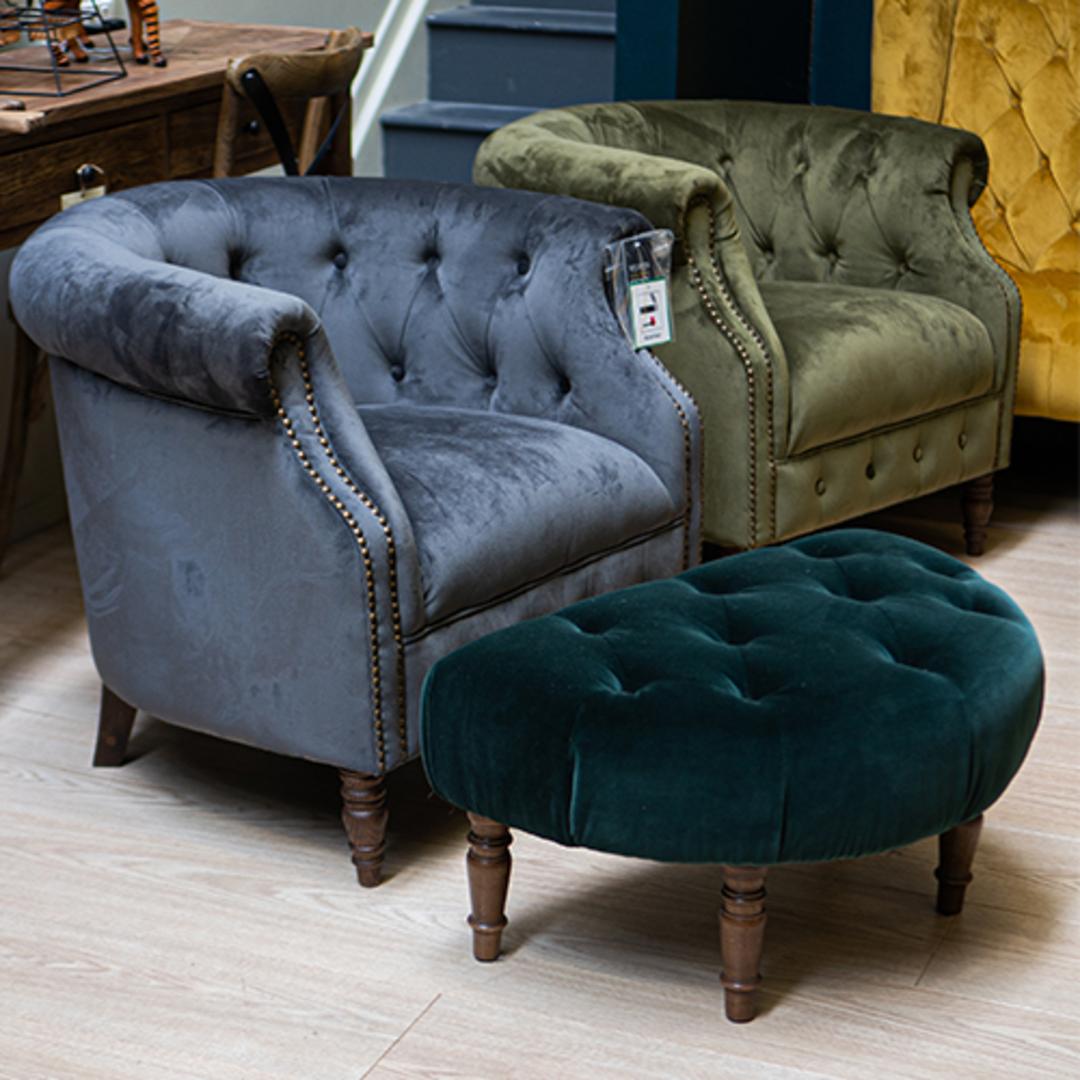 Jude Chair Plush Velvet Charcoal image 5