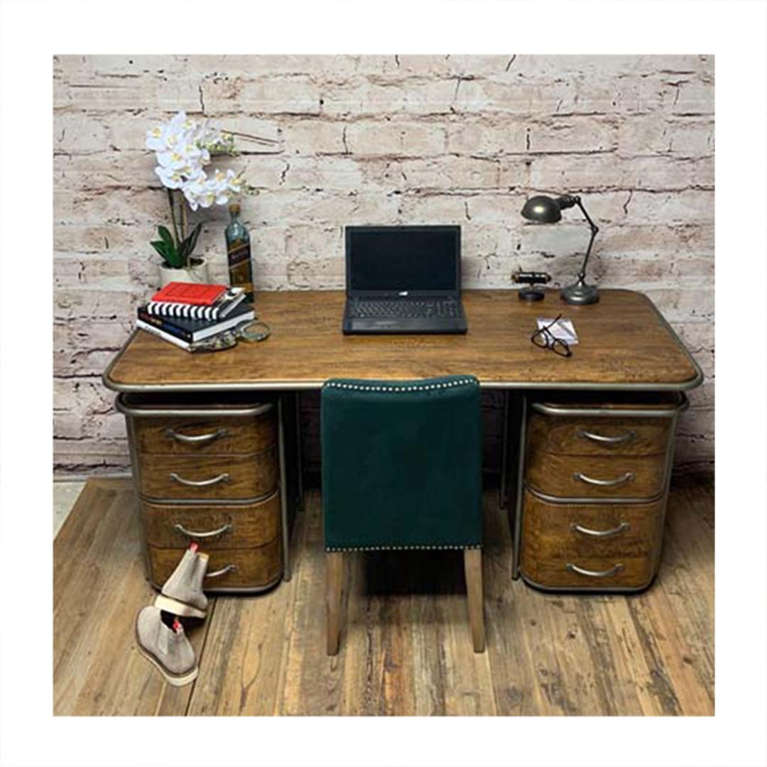 French Art Deco Desk - Rustic image 1