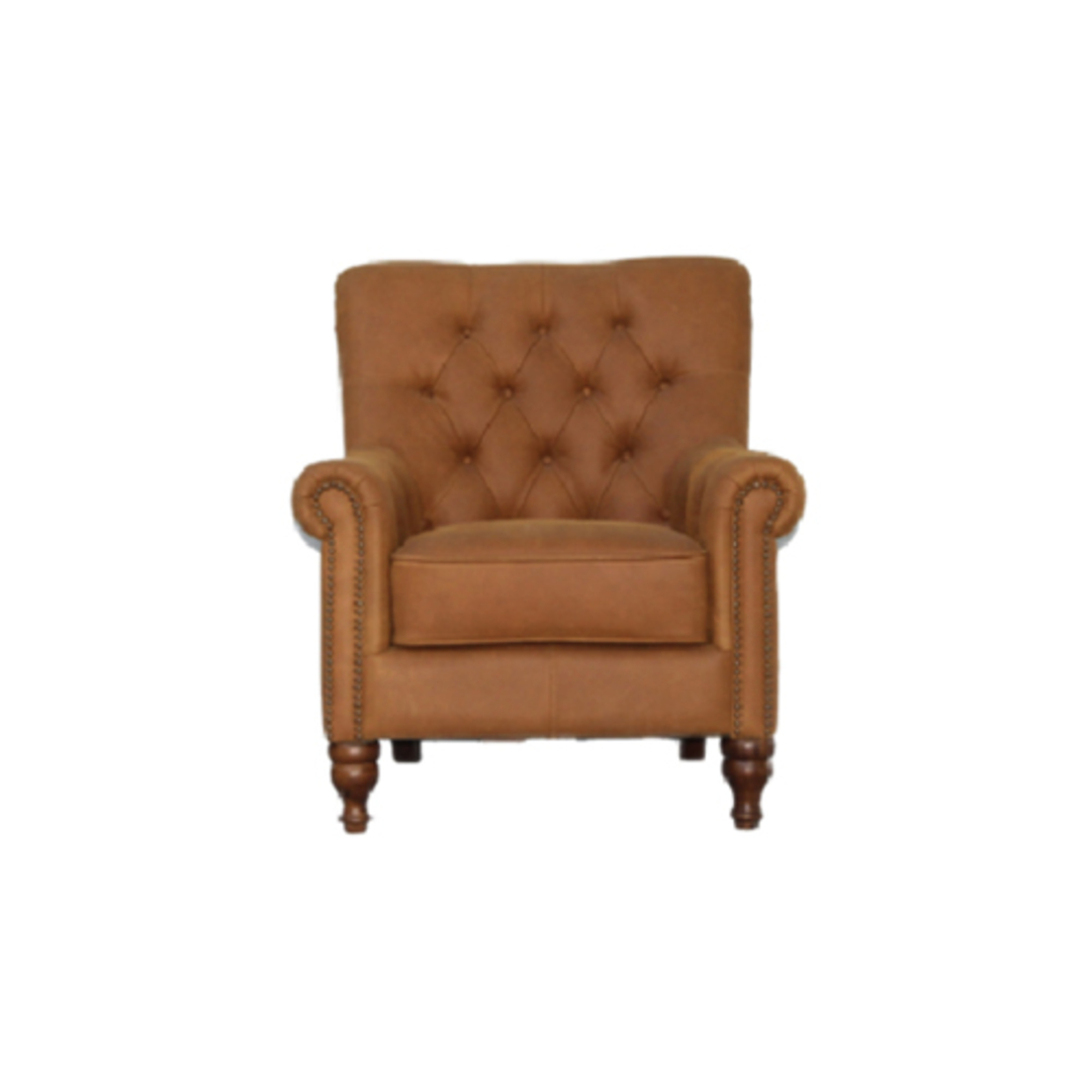Sofia Chair Leather Tan image 0