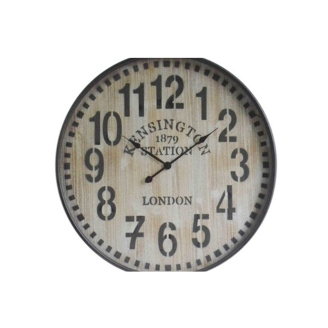 Old Town Metal Wall Clock - Wooden image 0
