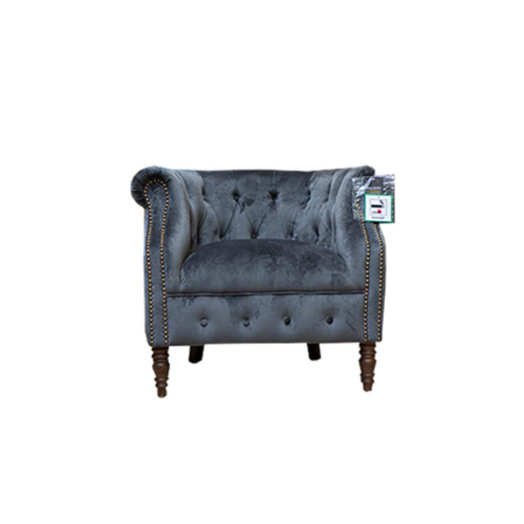 Jude Chair Plush Velvet Charcoal image 0