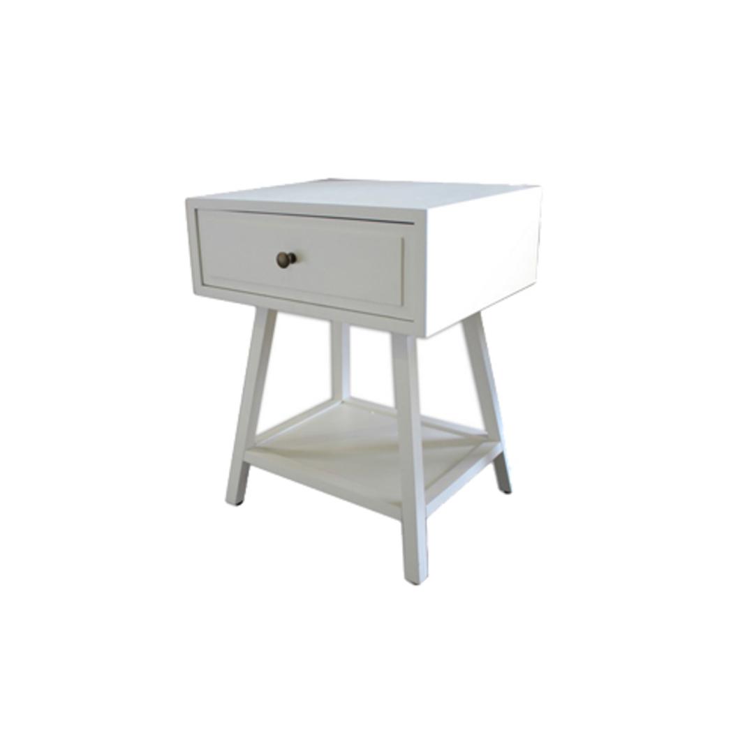 Chiffon Bedside Table White Poplar image 0
