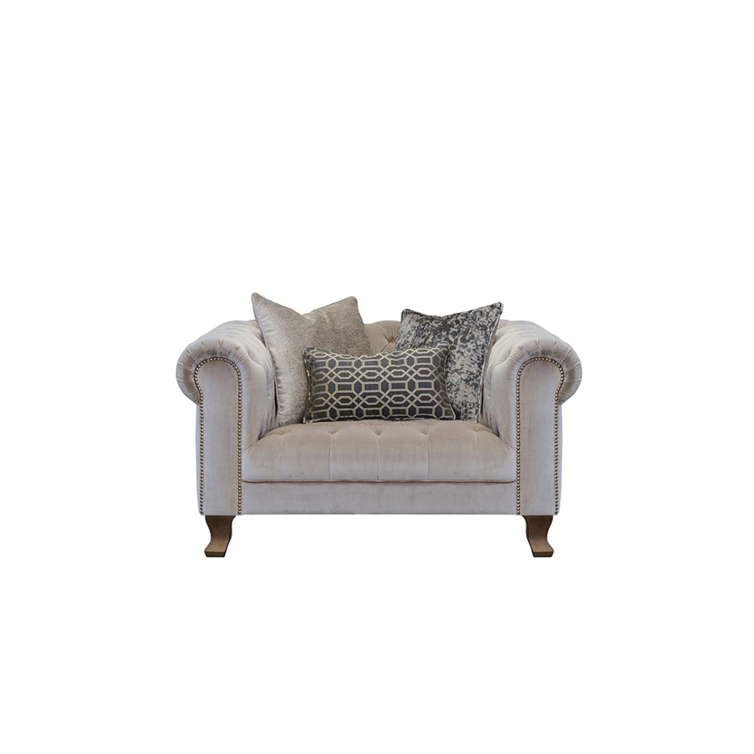 Vivienne Snuggler Chair Dickens Mushroom image 1