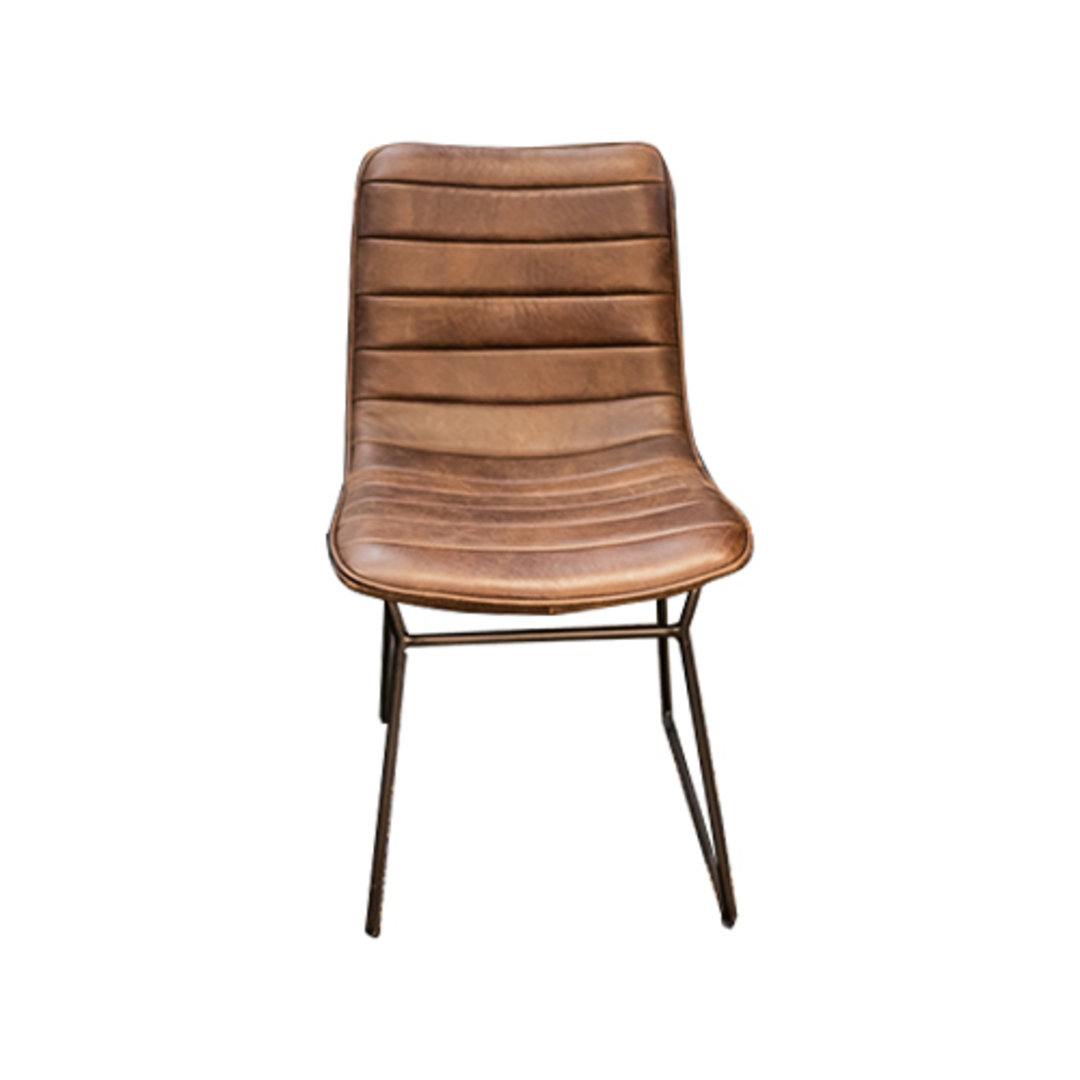 Amalfi Leather Dining Chair image 2
