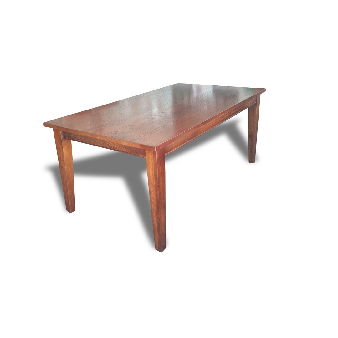 American Oak 1.8M Dining Table Dark image 0