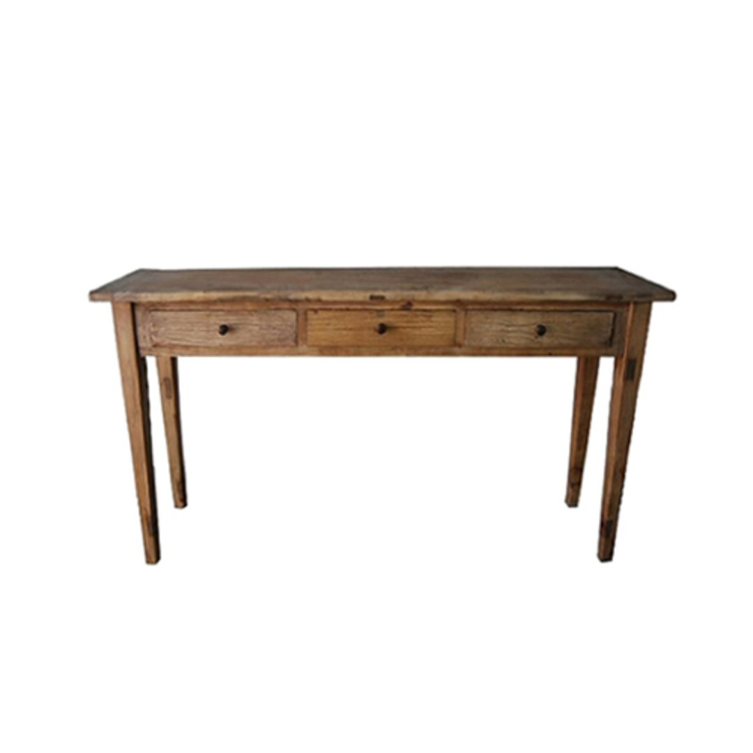 Console Recycled Elm Hall Table 3 Drawer image 0