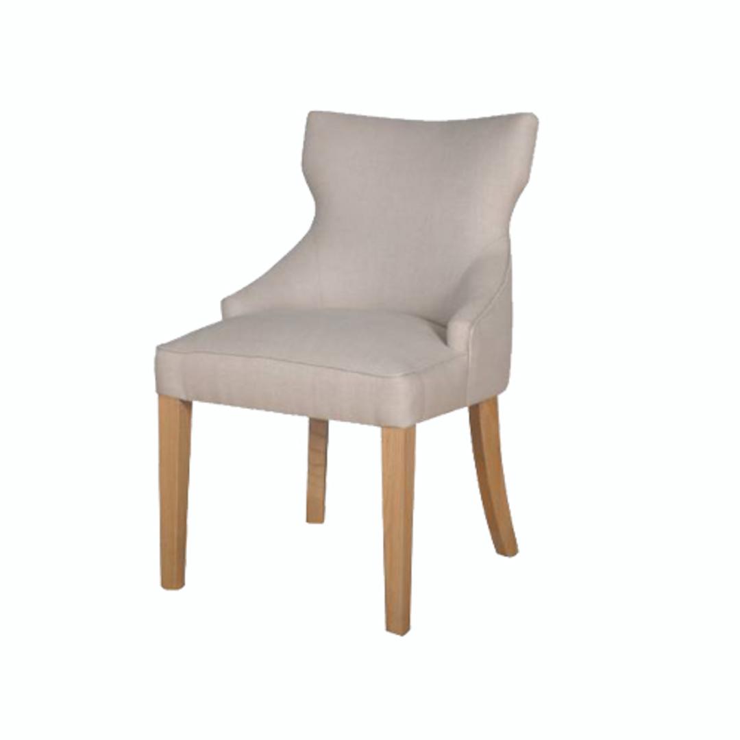 Fleur Dining Chair Natural Linen image 0