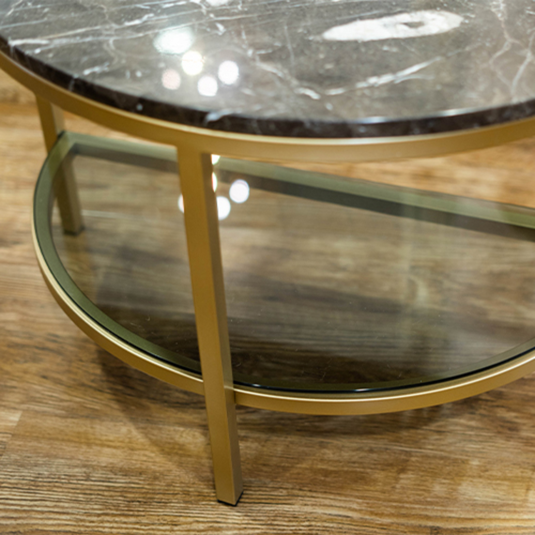 Parkville Arch Brown Marble Table image 5