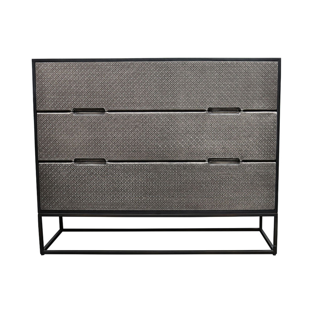 Melody Metal & Wood 3 Drawer Chest image 0