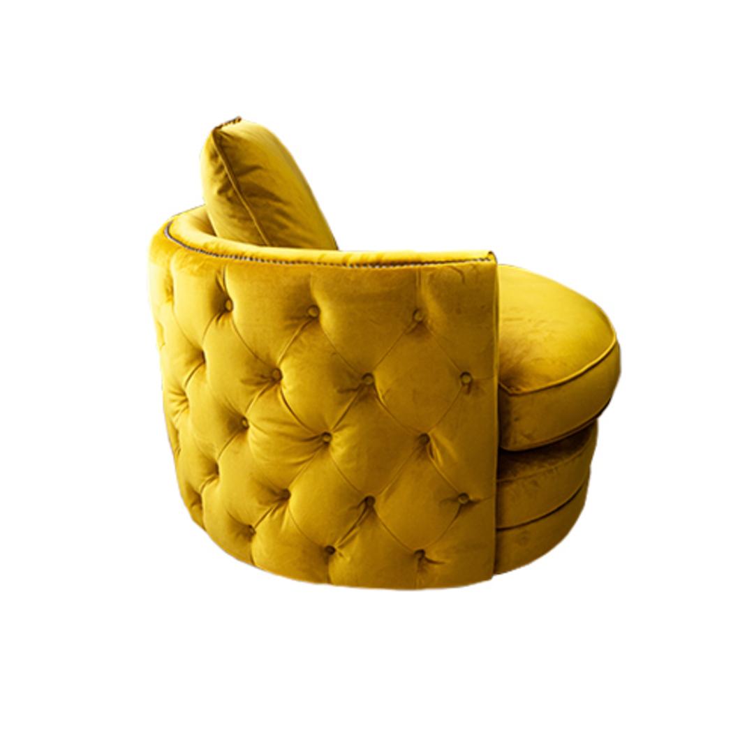 Roxy Twister Chair Plush Turmeric image 2