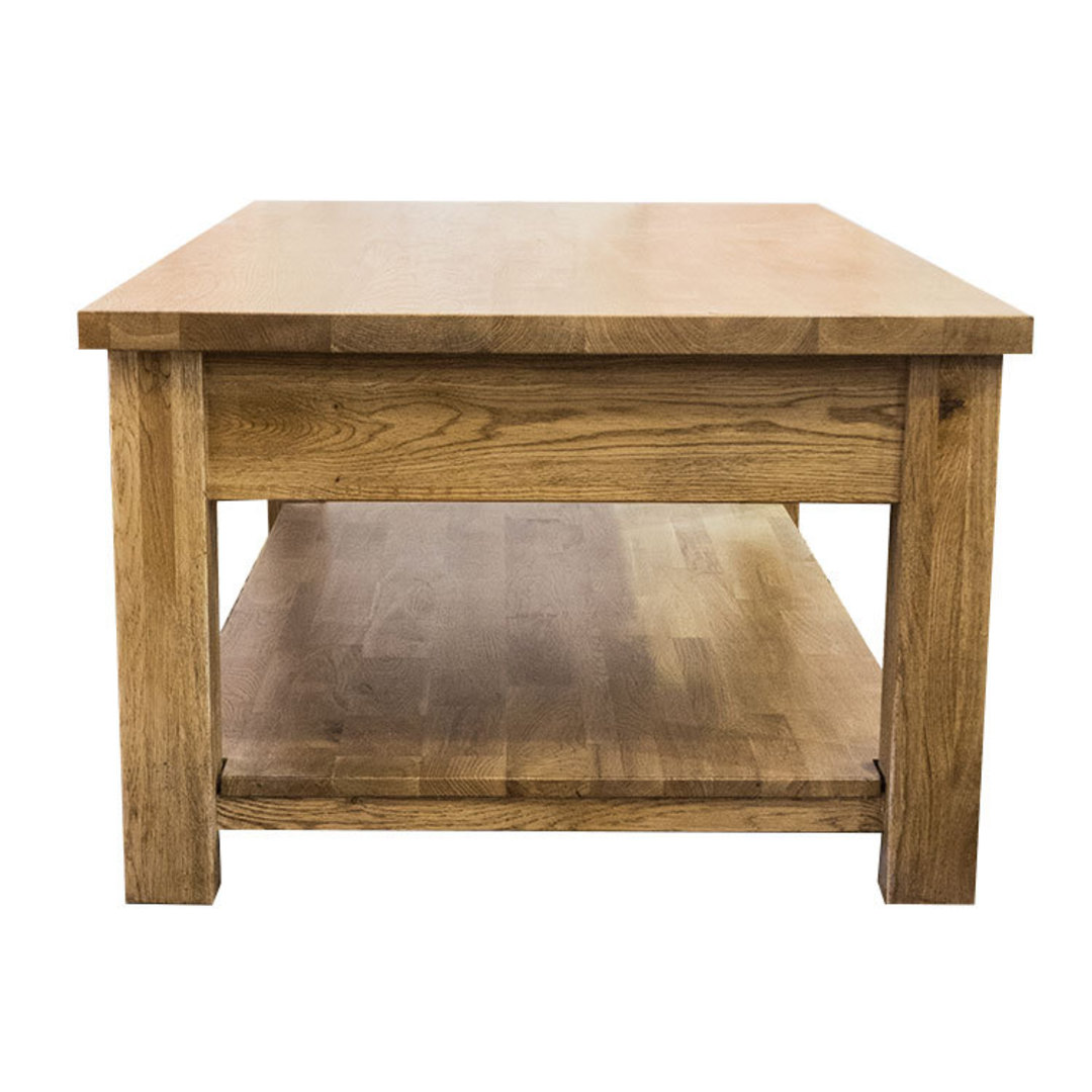 Oak Coffee Table 2 Drawer image 2