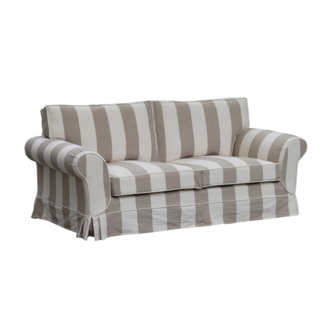 Delray 2 Seater Sofa Striped Natural image 0