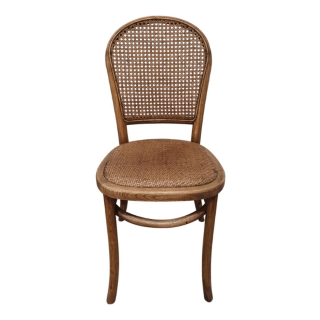 Meshach Rattan and Oak Dining Chair Natural Oak image 1