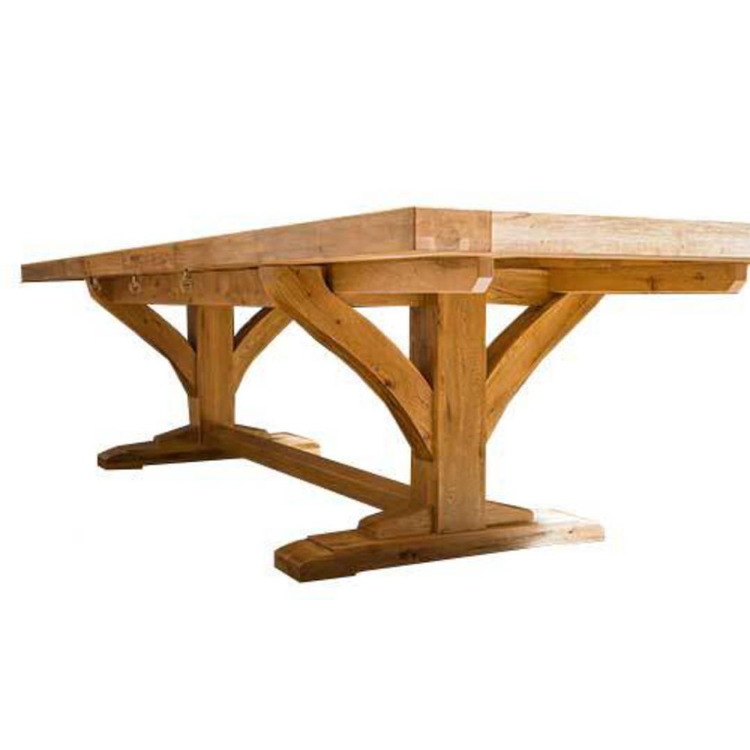 Oak Double Extension Table Parquet Top image 3