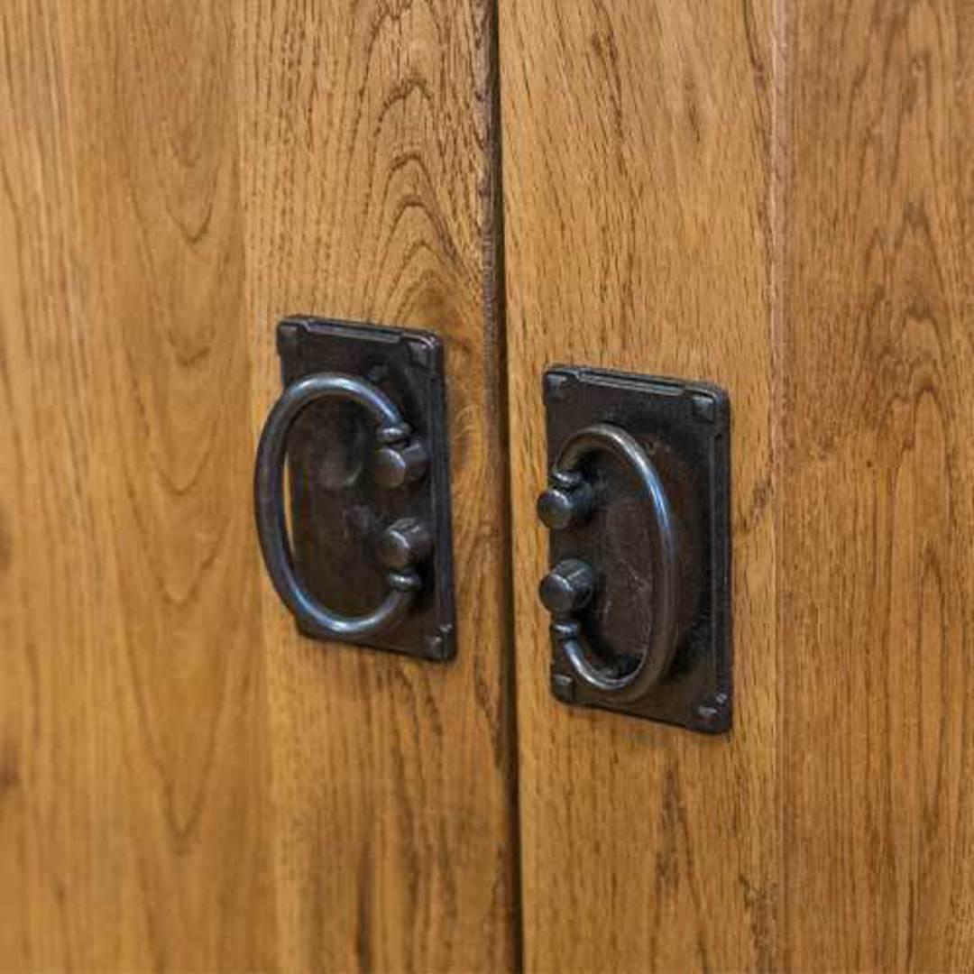 American Light Oak 3 Door Sideboard image 7