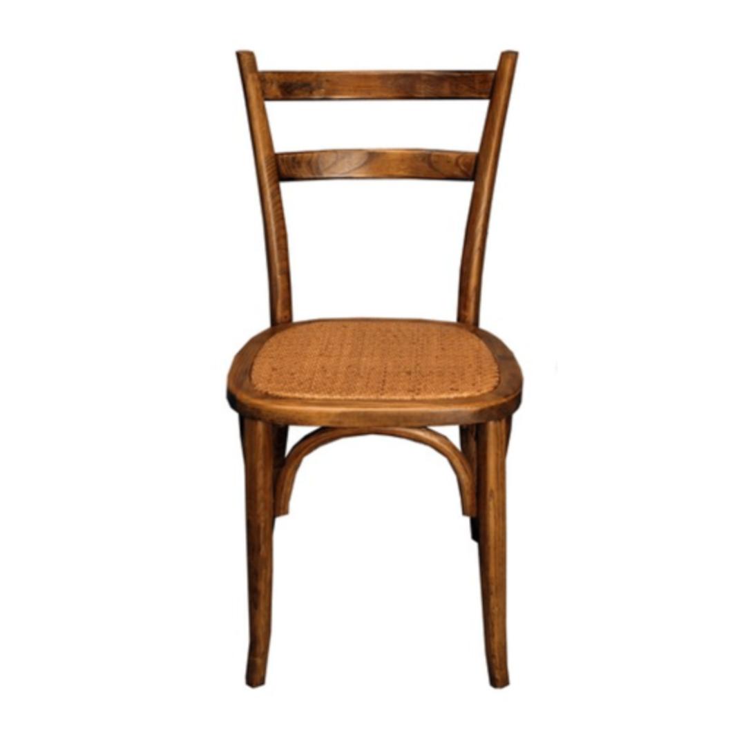 Slat Back Bentwood Dining Chair Antique Oak image 2