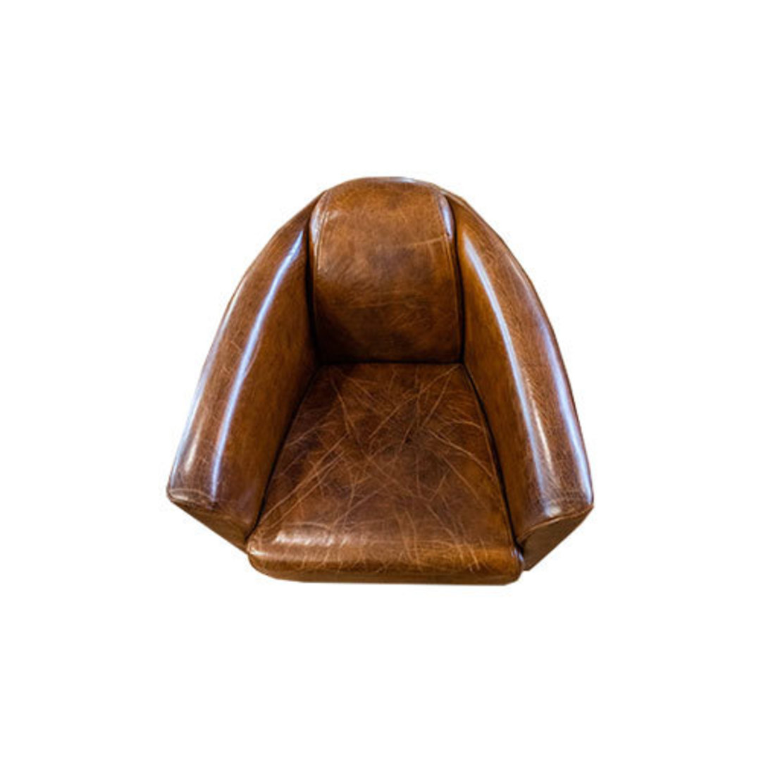 Manchester Aged Italian Leather Chair image 4