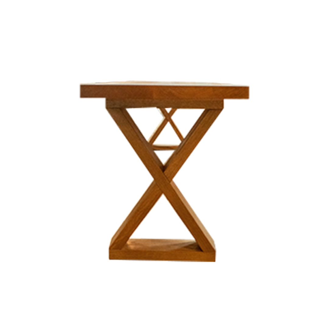 American Oak X-Leg Bench Seat NZ Made image 2