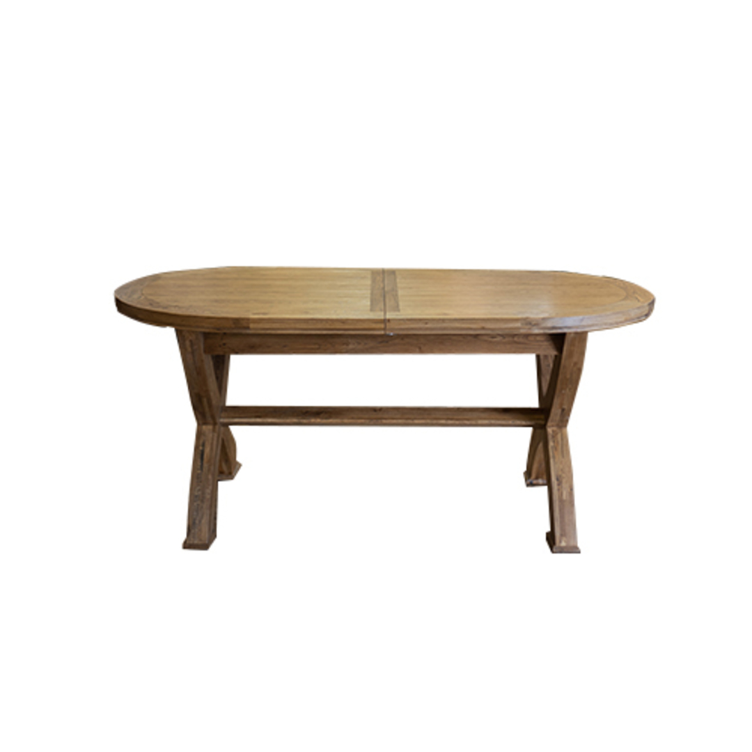 Oak Oval Extension Dining Table with Crossed legs image 3