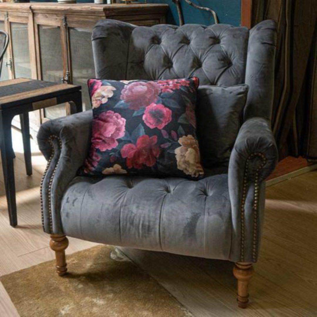 Theo Chair Plush Asphalt Grey image 3