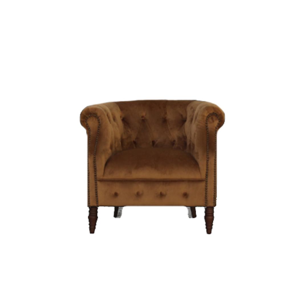 Jude Chair Plush Velvet Tan image 0