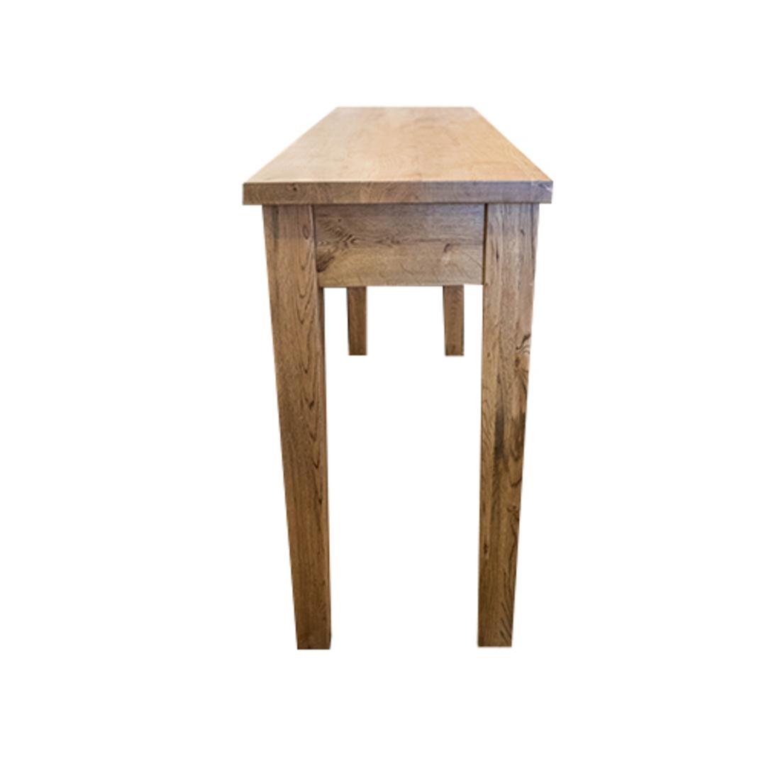 American Oak Hall Table 2 Drawer image 4