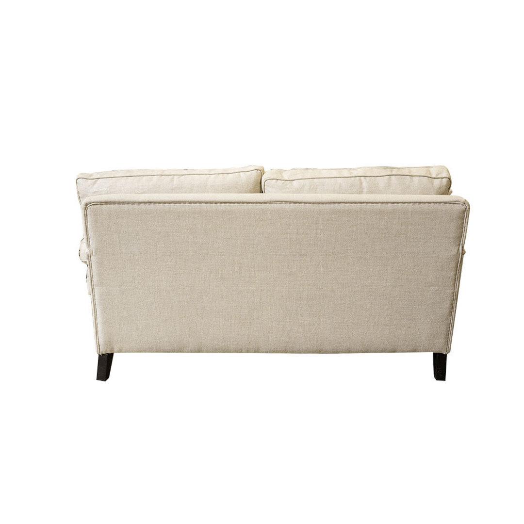 Victoria 2 Seater Sofa Belgium Linen Cream image 2