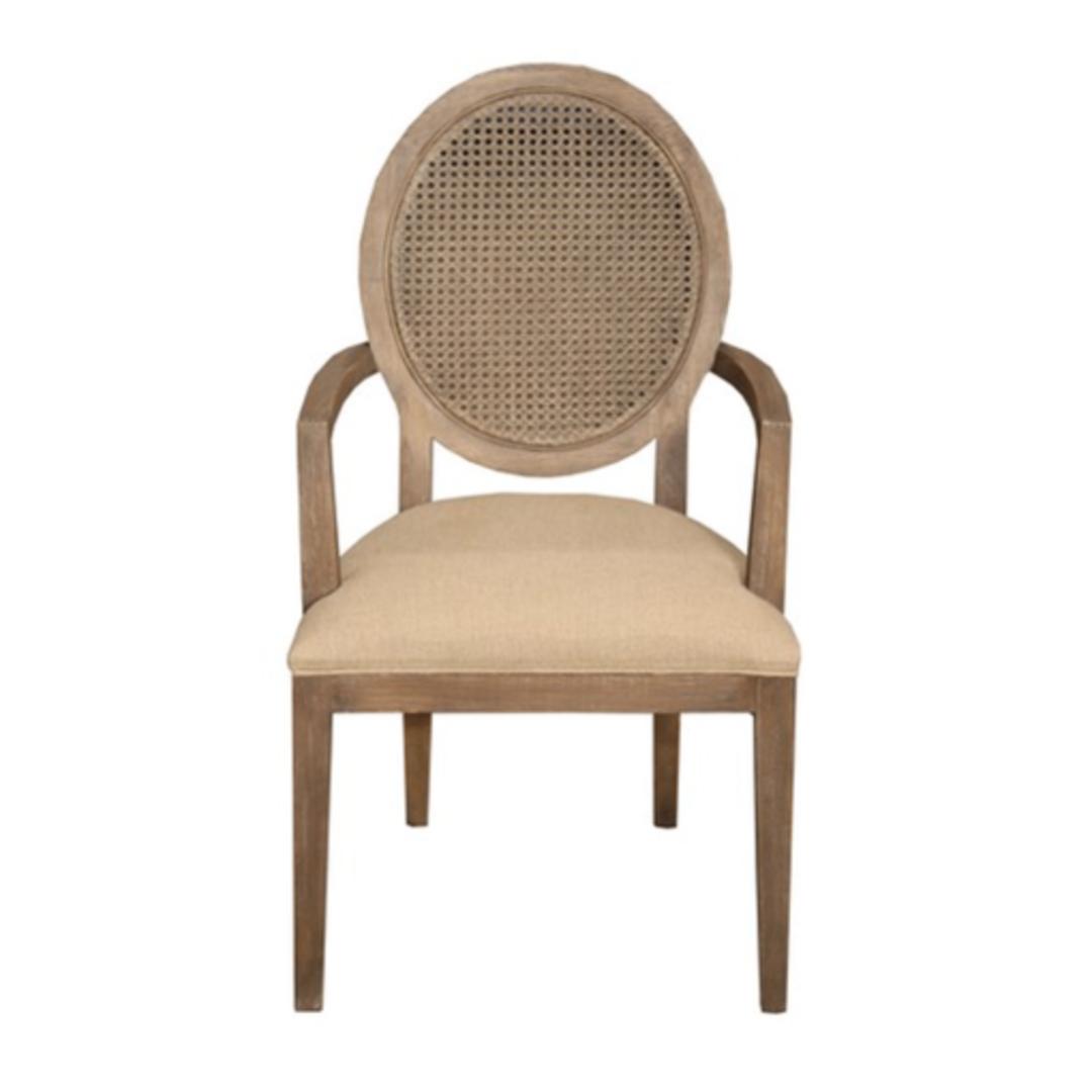 Valdez Rattan Back Carver Chair With American Oak image 1