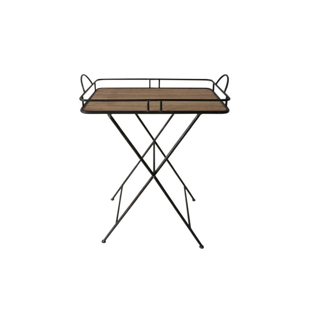 Metal & Wood Tray Table image 0