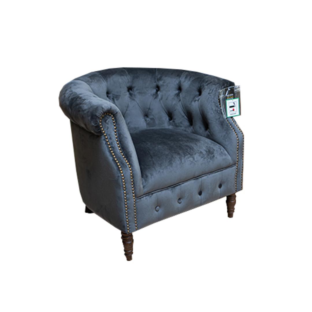 Jude Chair Plush Velvet Charcoal image 1