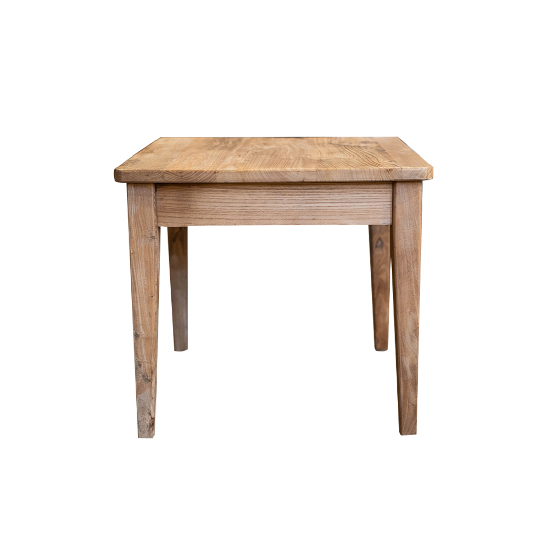 Recycled Elm French 1 Drawer Lamp Table image 2