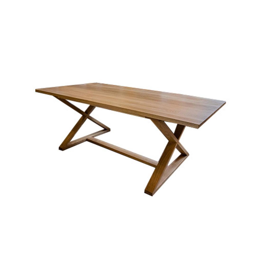 Oakleigh X-Leg Oak Table 2M image 6